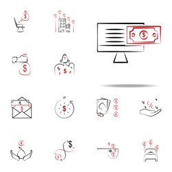 Freelance income icon. Finance icons universal set for web and mobile