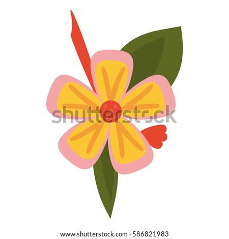 freesia flower tropical icon