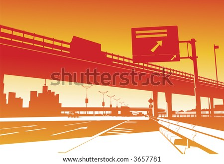 freeway interchange on the red