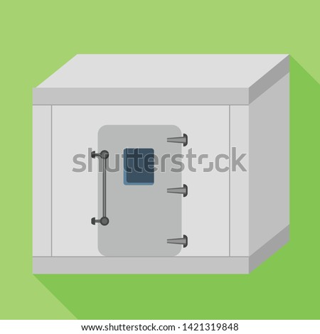 Freezer room icon. Flat illustration of freezer room vector icon for web design