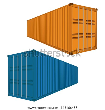 Freight Container, Vector Illustration EPS 10.