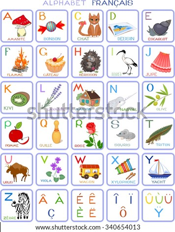 French alphabet with pictures