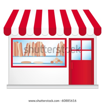 French bakery. Vector illustration.