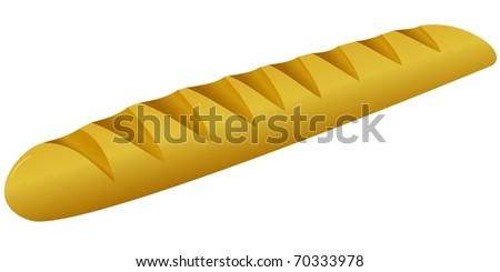French bread. vector