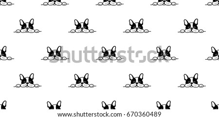 Shutterstock french bulldog face sleepy dog seamless pattern wallpaper background