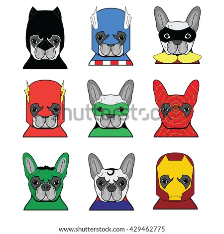 french bulldog  heroes in in