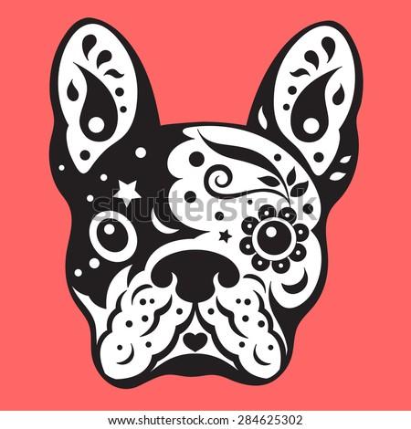 french bulldog sugar skull