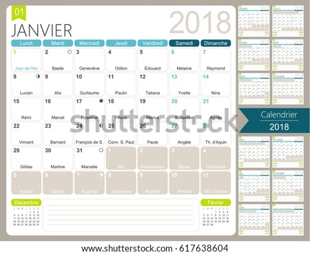 4 month calendar 2018