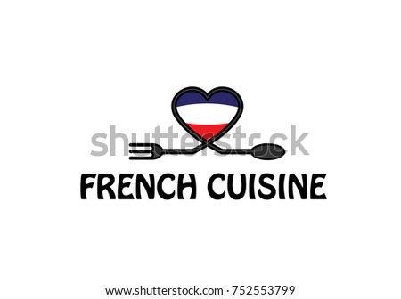 french cuisine and flag