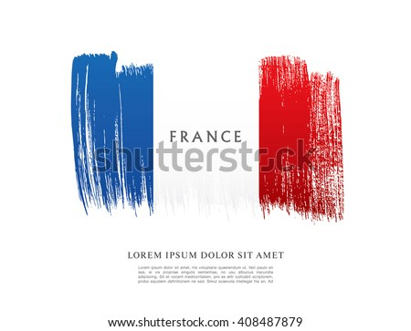 french flag made in brush...