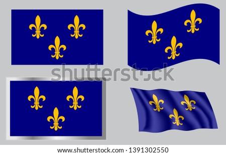 French Fleur-de-lis flag of 1754 Stock fotó ©
