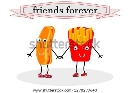 Patatas Fritas Y Amigos Descargue Gráficos Y Vectores Gratis