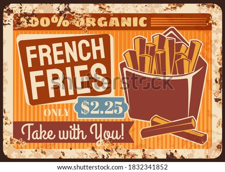 french fries fast food rusty