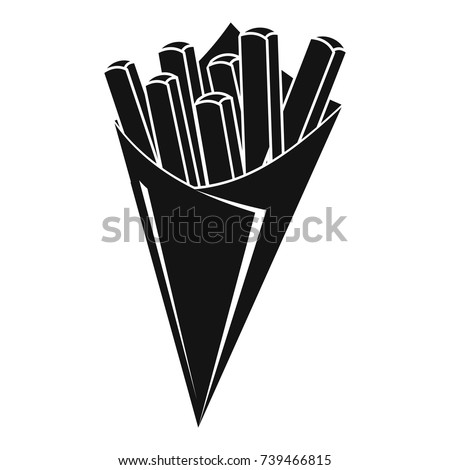 French fries icon. Simple illustration of french fries vector icon for web