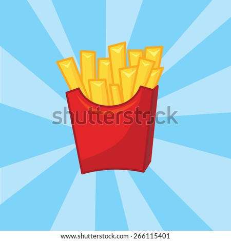 french fries illustration for