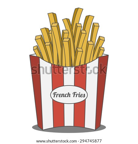 french fries in red and white