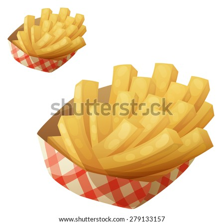 french fries in the paper