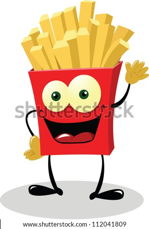 French Fries saying hello!