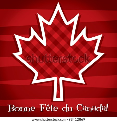 French 'Happy Canada Day' card in vector format.
