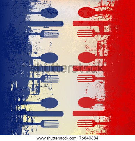 french menu vector template