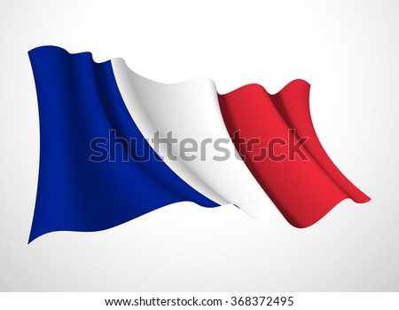 french republic  flag isolated