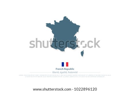 Free Vector Map of France