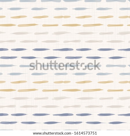 French shabby chic doodle stripe vector stripe background. Broken watercolor line off white seamless pattern. Hand drawn striped interior home decor swatch. Classic farmhouse style all over print