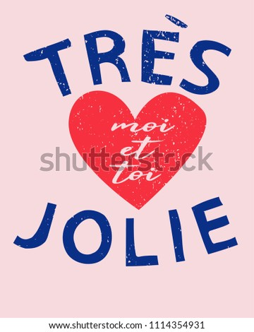 french slogan shirt print.