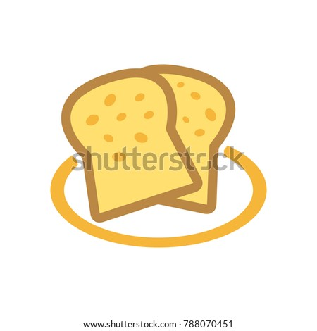 french toast bread - food icon