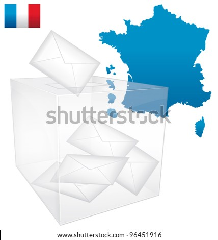 French vote. Vector Civism  illustration.