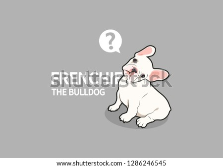 Frenchie The Bulldog Has A Doubt. French bulldog with rotation head posture.