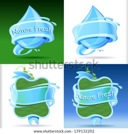 fresh and sparkling water label