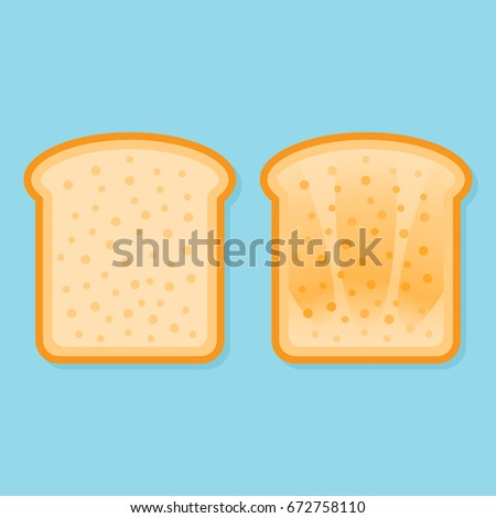 fresh and toasted bread slice