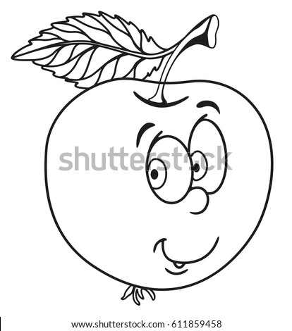 fresh apple cartoon