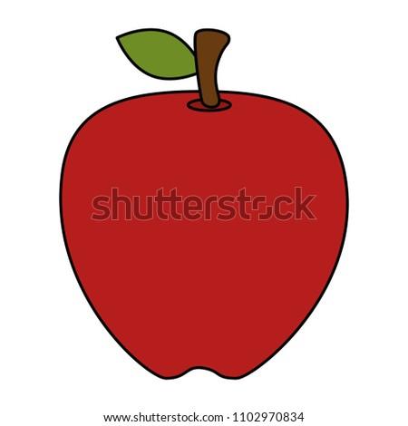 fresh apple fruit icon