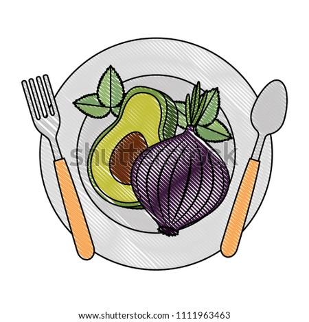 fresh avocado with beet vegetarian food