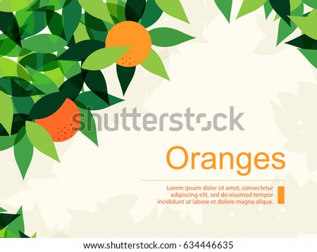 fresh background with oranges