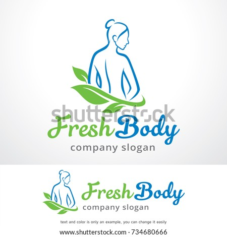 Fresh Body Logo Template Design Vector, Emblem, Design Concept, Creative Symbol, Icon
