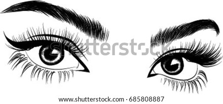 fresh brown woman's eyesidea