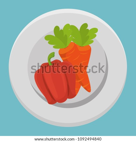 fresh carrot and pepper vegetables menu