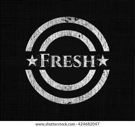 Fresh chalk emblem