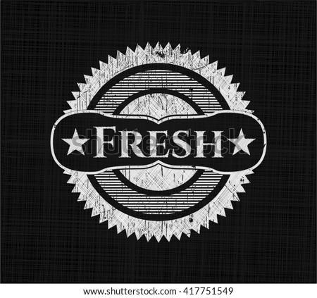 Fresh chalkboard emblem