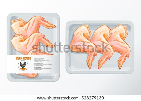 fresh chicken wings white