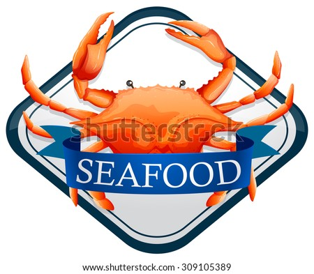 fresh crab with blue seafood