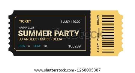 Fresh design Ticket Vector template for invitation, event, concert, music festival, movie festival, show, performance, etc.