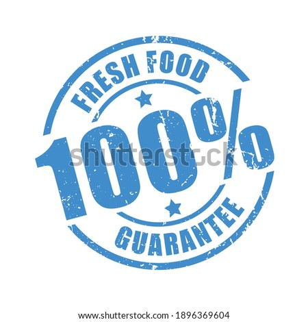 Fresh food guaranteed stamp print