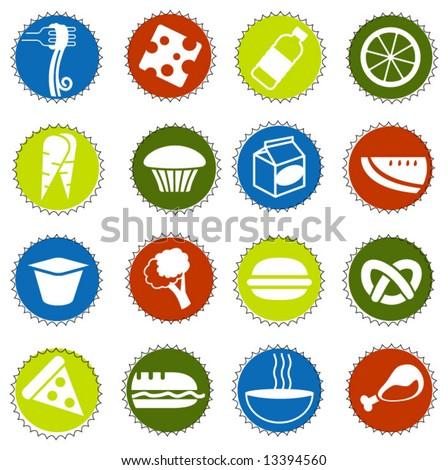 fresh food icons 3