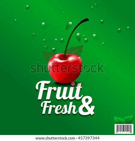 fresh fruit organic farm logo
