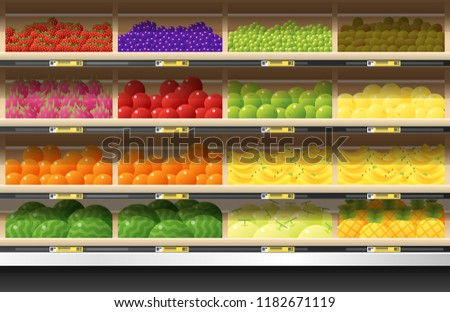 fresh fruits for sale display