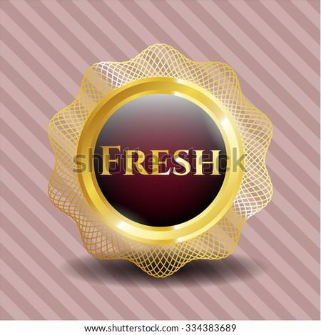 Fresh gold emblem